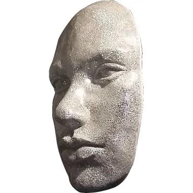 Visage 3D mural mosaïque miroir argent 103 cm