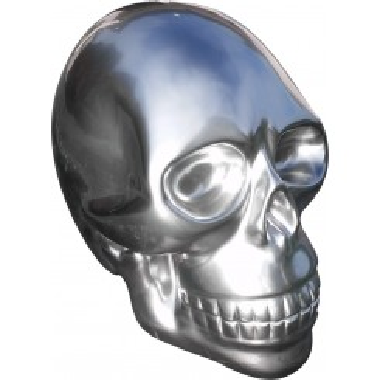 Tête de mort aspect chrome géante