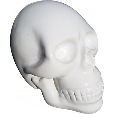 Tête de mort géante en résine blanche