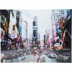 Tableau en verre Time Square Move 120 x 160