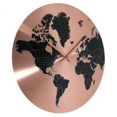Horloge Mappemonde Cuivre
