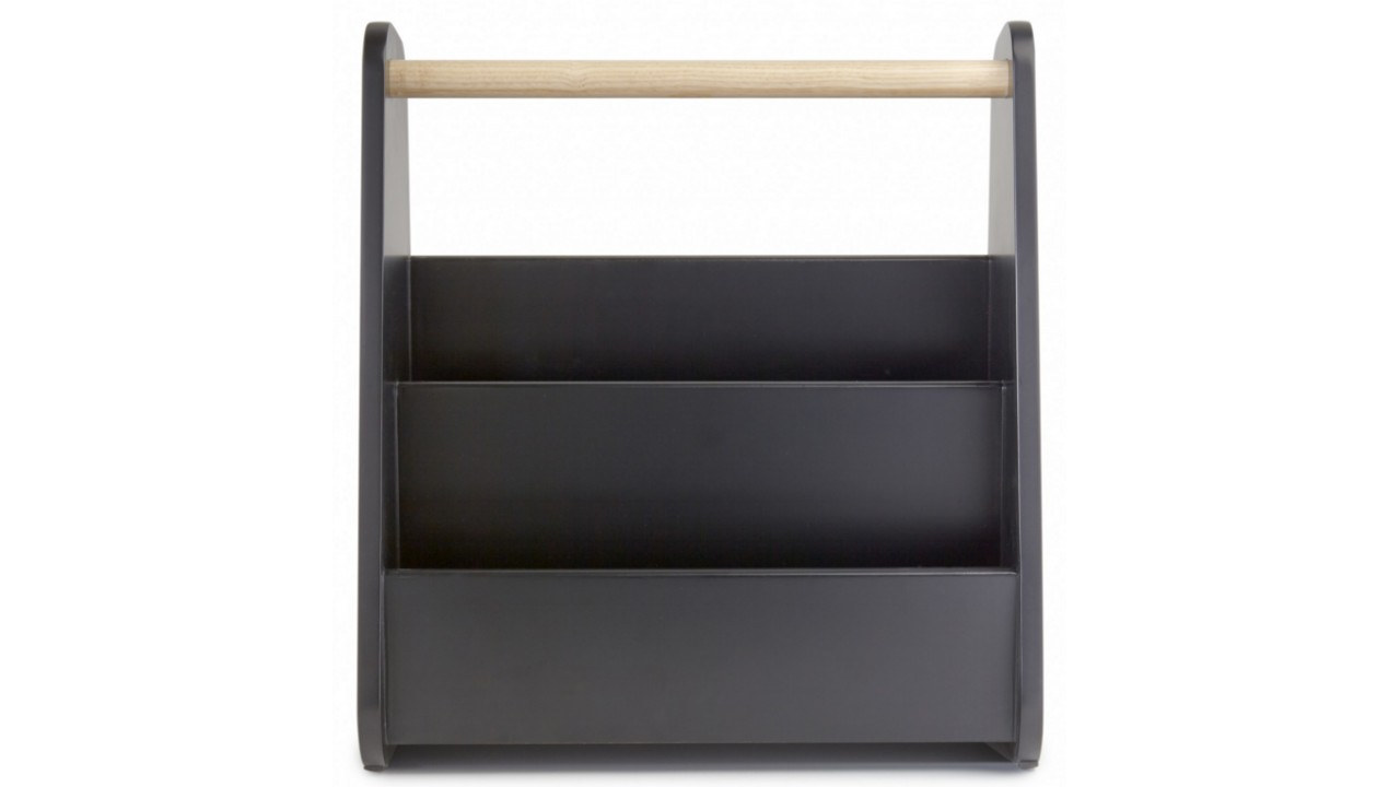 achetez votre porte revues gazette magazine rack noir pas. Black Bedroom Furniture Sets. Home Design Ideas