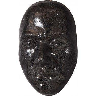 Visage 3D mural mosaïque miroir noir 66 cm