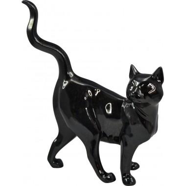 Chat décoratif noir debout