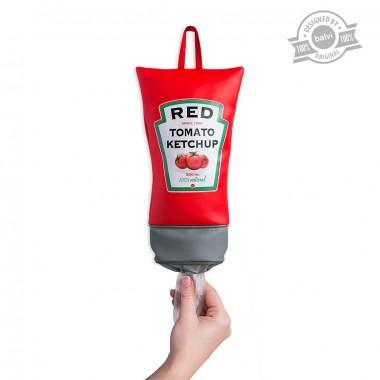 Rangement Sacs plastiques tube de Ketchup Tomato