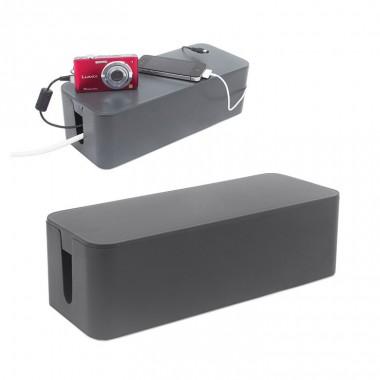 Boîte range câbles TIDY grise