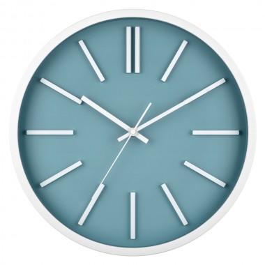 Horloge SOHO bleu ardoise et blanche