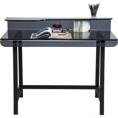 Bureau design en verre noir