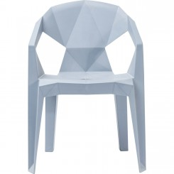 Chaise origami Géometrial grise