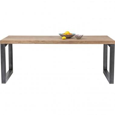 Table à manger bois clair et acier Seattle
