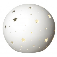 LAMPE STAR LIGHT EN PORCELAINE BLANCHE