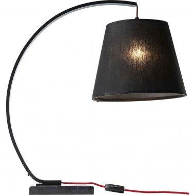 Lampe à poser moderne acier noir Arco