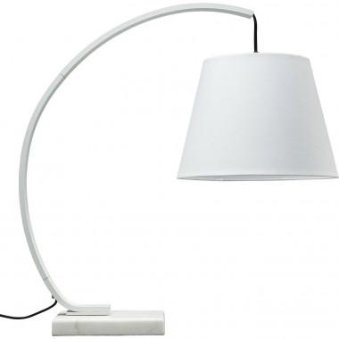 Lampe à poser moderne acier blanc Arco