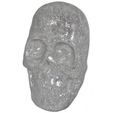 VISAGE TETE DE MORT 3D MURAL MOSAIQUE ARGENT DRIMMER