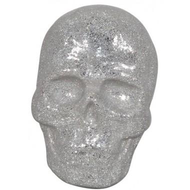 VISAGE TETE DE MORT 3D MURAL MOSAIQUE ARGENT PETIT MODELE DRIMMER