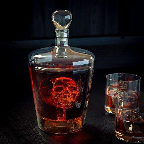 Carafe tête de mort en verre transparente 1 Litre