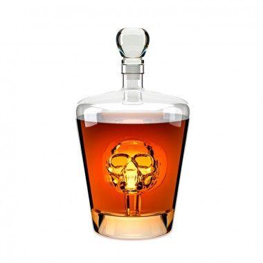Carafe tête de mort en verre transparente 1L