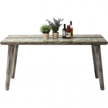 Table à manger 160 bois aspect vieilli Santorini