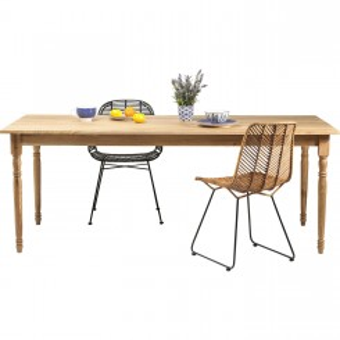 Table à manger rectangle bois clair 200 Tazio