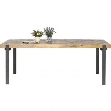 Table à manger industrielle bois et acier Hunters Logde