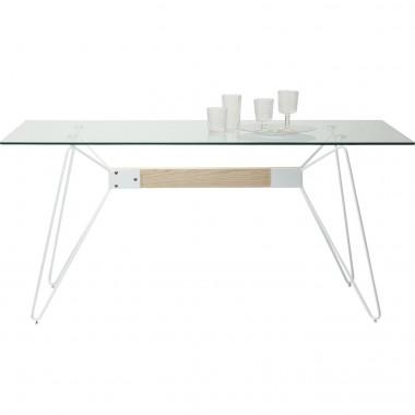 Table à manger verre et bois 160 Slope