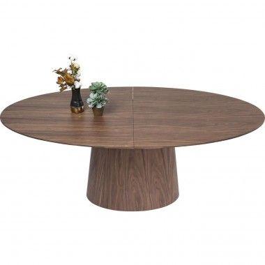 Table à manger extensible 200 bois noyer Benvenuto