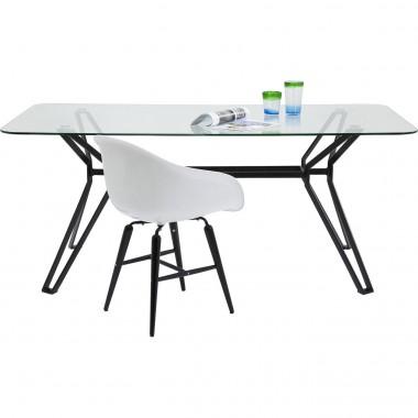 Table à manger rectangle en verre 180 Garbo