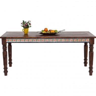 Table à manger vintage marron 160 Romance
