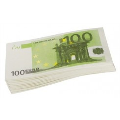 Paquet de 10 serviettes billets de 100 euros