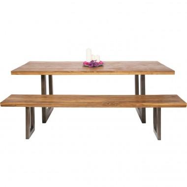Table à manger bois et acier 160 Factory