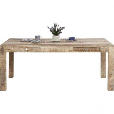 Table à manger en bois clair ethniques 180 Puro
