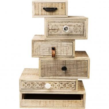Chiffonnier modulable en bois ethnique Puro