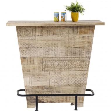 Bar en bois de manguier motifs ethniques Puro