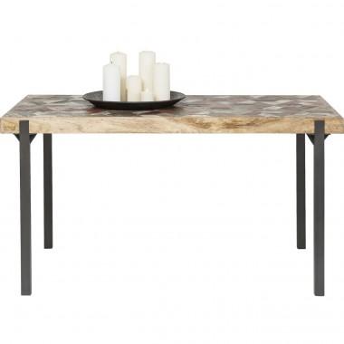 Table à manger industrielle bois et acier 140 Hunters Logde