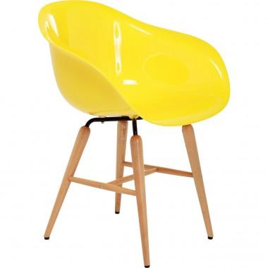 Chaise design jaune avec accoudoirs Forum