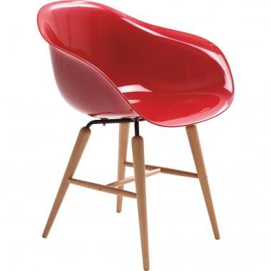 Chaise design rouge avec accoudoirs Forum