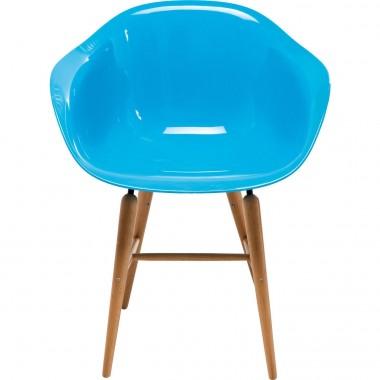Chaise design bleu clair avec accoudoirs Forum