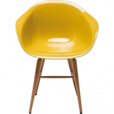 Chaise design jaune moutarde avec accoudoirs Forum
