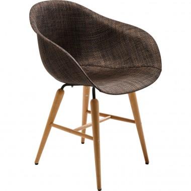 Chaise design tissus marron avec accoudoirs Forum