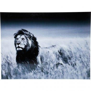 Tableau en verre 120 x 160 Lion Standing