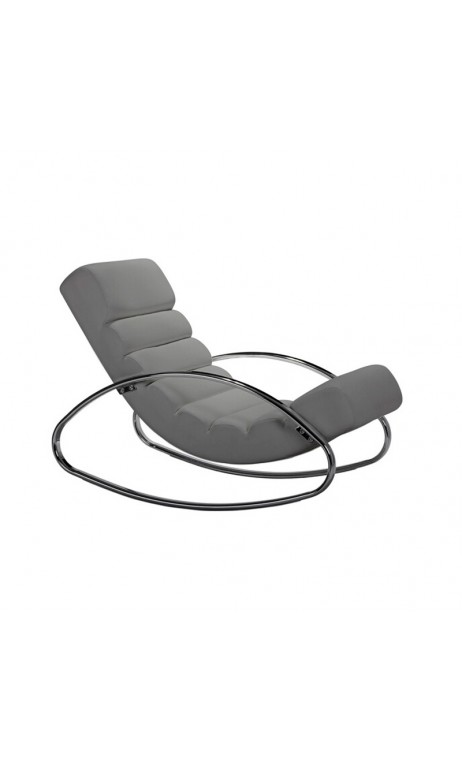 Fauteuil Rocking chair gris Urban