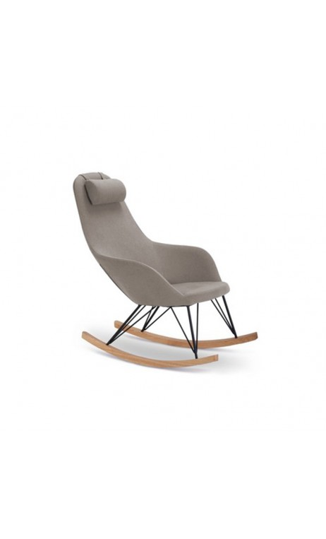 Fauteuil Rocking chair taupe Texas