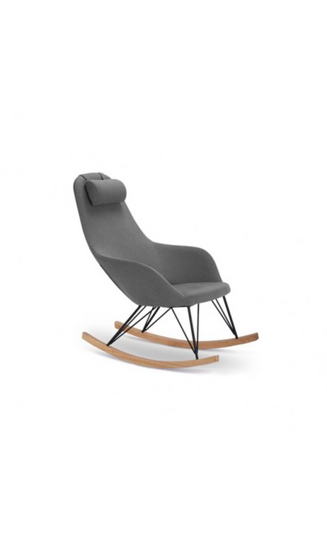 Fauteuil Rocking chair gris Texas