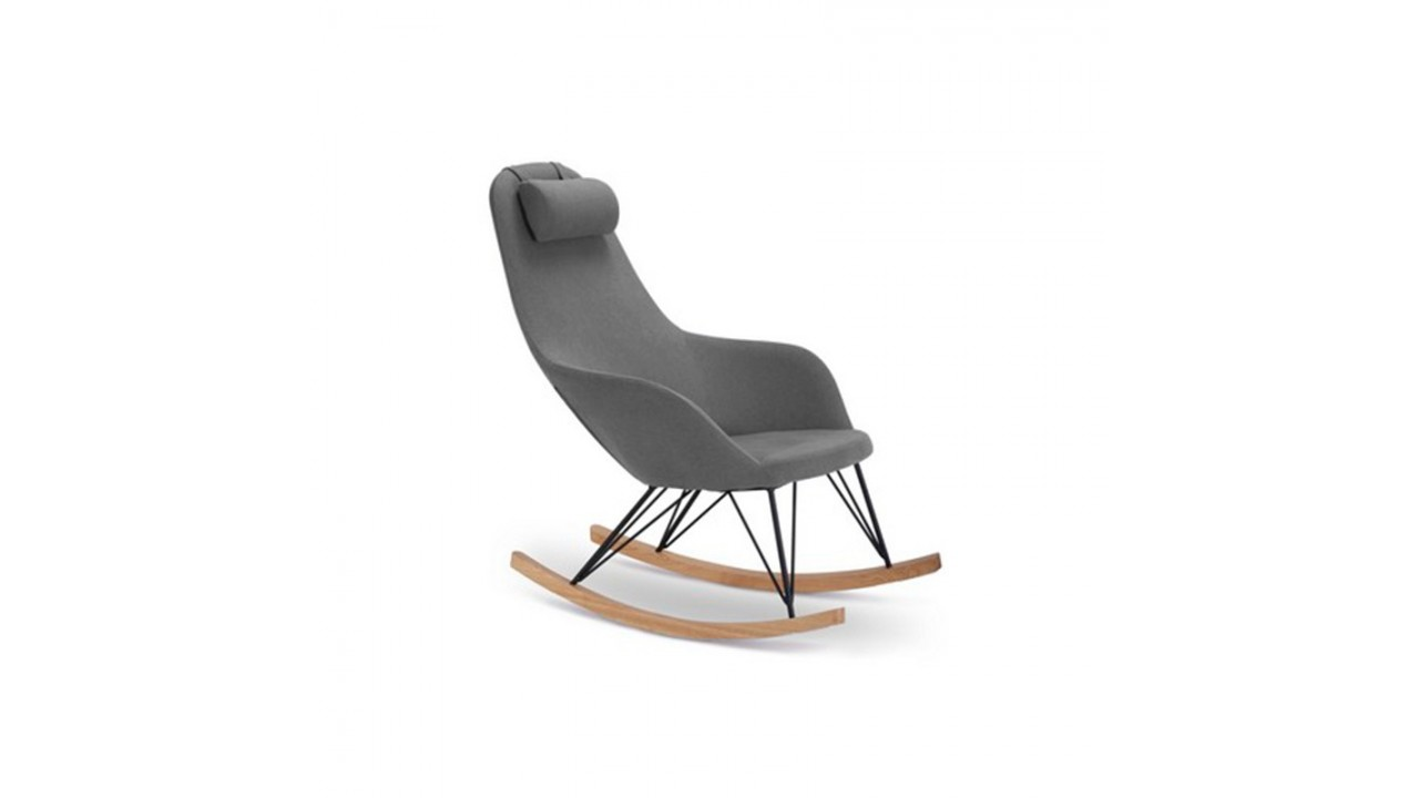 achetez votre fauteuil rocking chair gris texas pas cher sur loft. Black Bedroom Furniture Sets. Home Design Ideas
